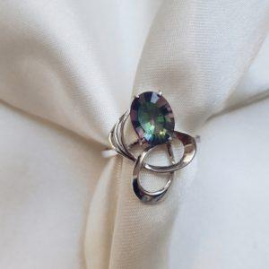 195 — Серебряное кольцо с мистик кварцем