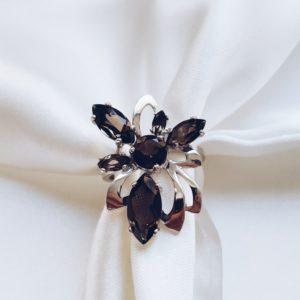 С 629 — Серебряное кольцо с раух топазами