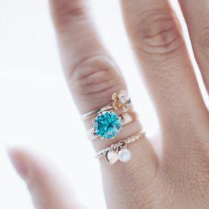 100067  100100  100115 — Кольца жемчуг голубой топаз  циркон