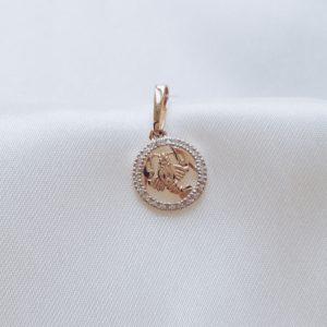 10649-07 — Подвеска с цирконами знак зодиака рак