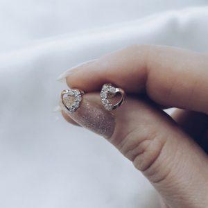 11121 — Серьги-пуссеты гвоздики с цирконами