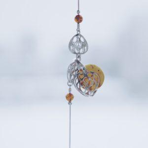 1981В — Браслет из серебра с янтарем